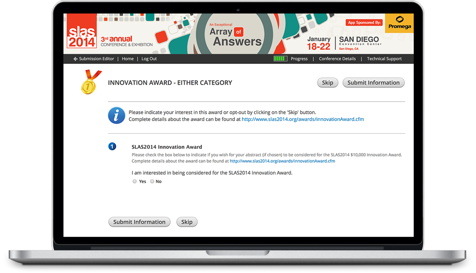 Reviewing awards to present during a conference or meeting has never been easier. Choose the best speakers and presenters at your event with the Abstract Scorecard.