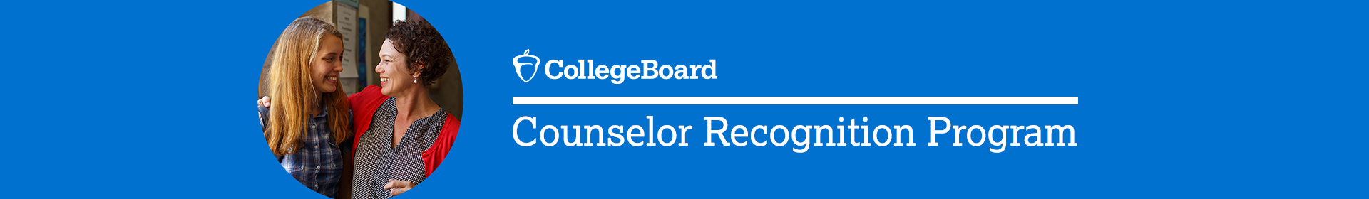 2021 College Board Counselor Recognition Program  Event Banner