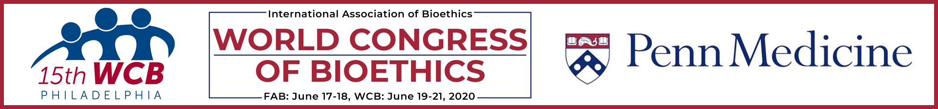 Feminist Approaches to Bioethics (FAB) <br>World Congress of Bioethics (WCB)</br> Event Banner