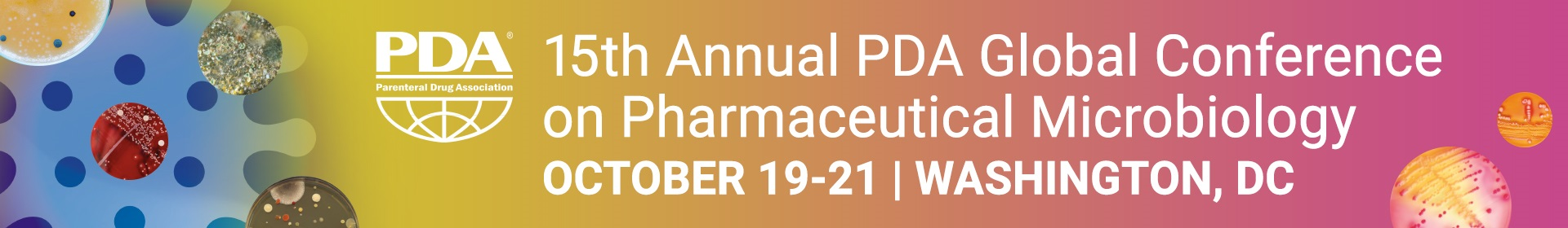 15th Annual PDA Global Conference on Pharmaceutical Microbiology Event Banner