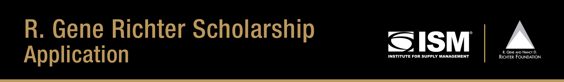 R. Gene Richter Scholarship Application