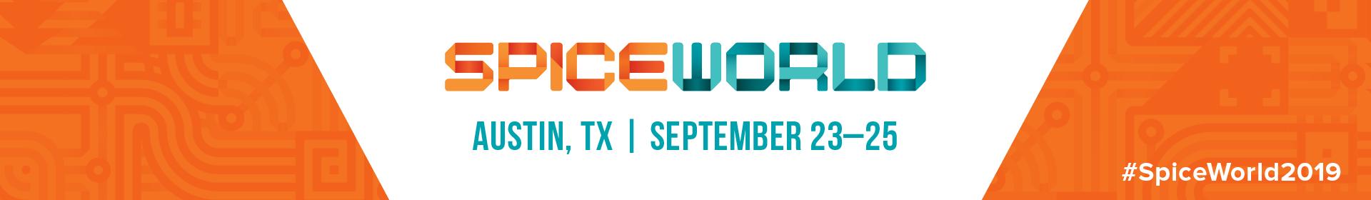 SpiceWorld 2019 Event Banner