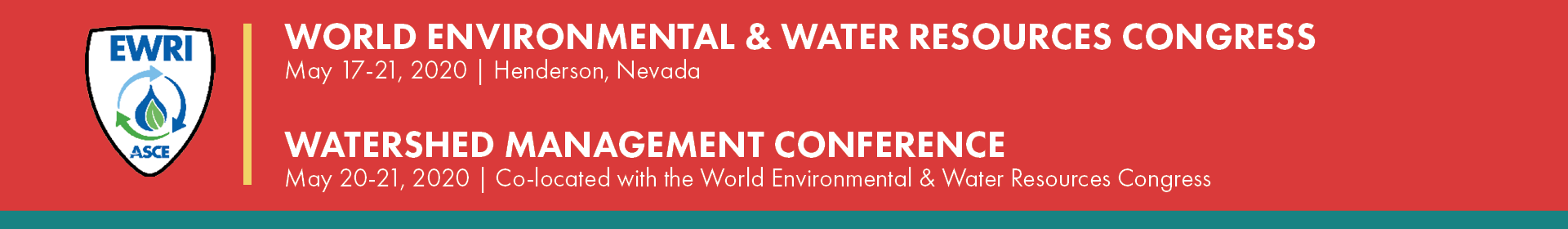 2020 EWRI Congress | Watershed Management Conference (co-located with the EWRI Congress)  Event Banner