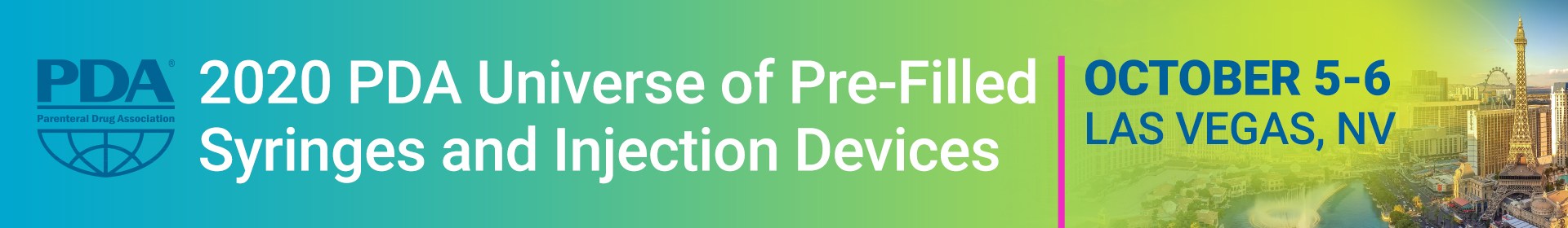 2020 PDA Universe of Pre-Filled Syringes and Injection Devices Event Banner