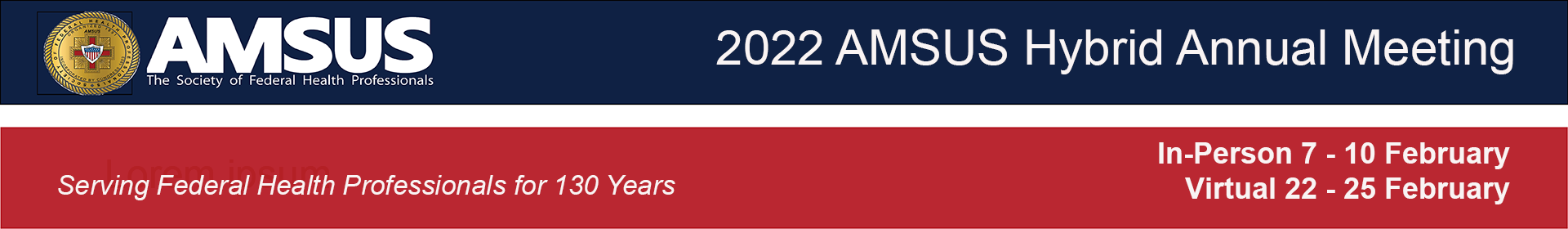 2021/2022 AMSUS Awards Program Event Banner