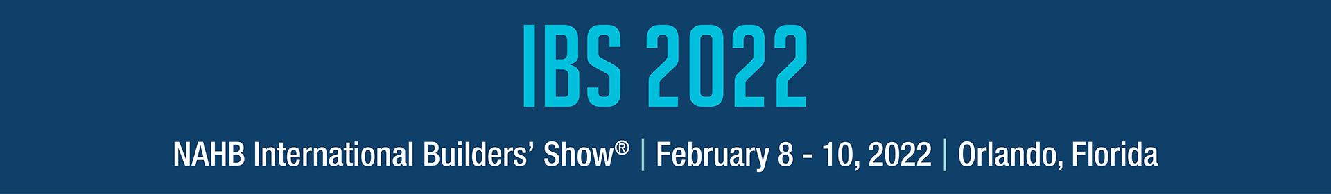 2022 International Builders' Show Event Banner