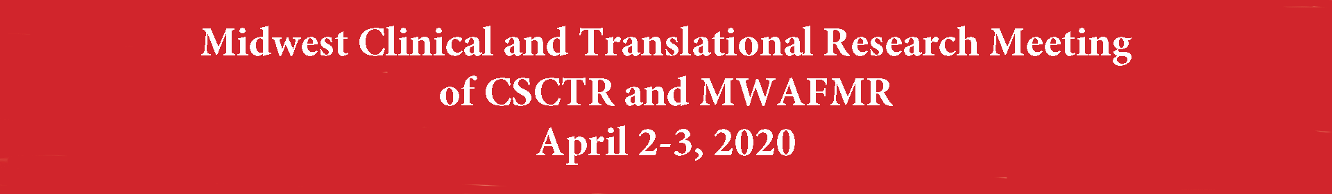 Midwest Clinical and Translational Research Meeting 2020 Event Banner