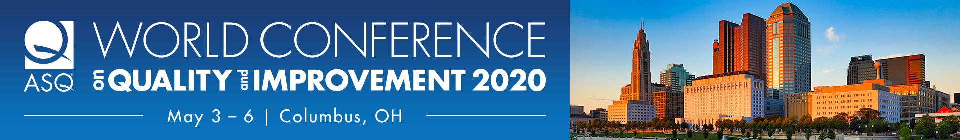 2020 World Conference on Quality and Improvement  Event Banner