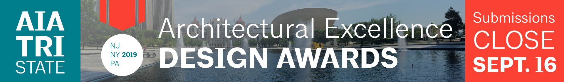 2019 AIA Tri-States Architectural Excellence Design Awards  Event Banner