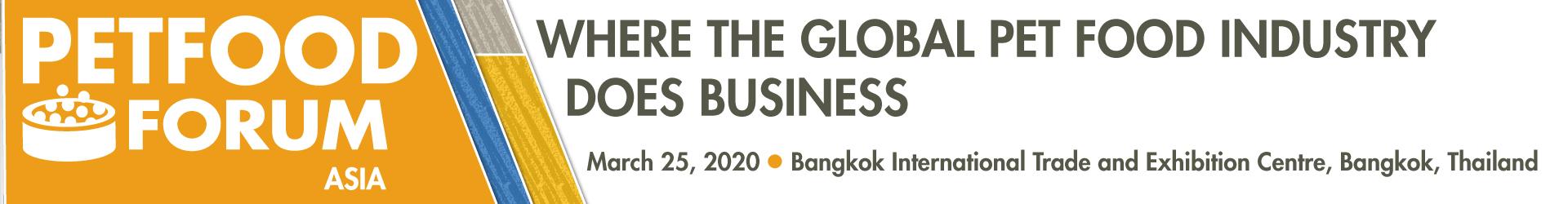 Pet Food Forum - Asia 2020 Event Banner