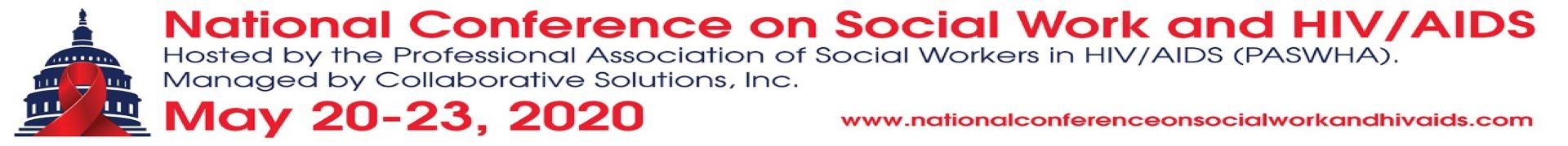 2020 National Conference on Social Work and HIV/AIDS Event Banner
