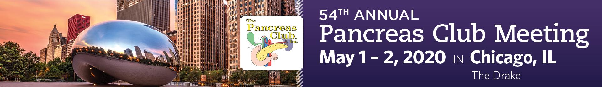 54th Annual Pancreas Club Meeting Event Banner