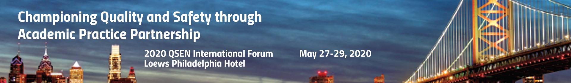 QSEN International Forum 2020 Event Banner