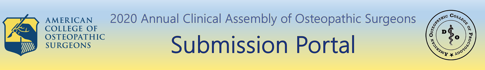 2020 Annual Clinical Assembly of Osteopathic Surgeons (ACA)  Event Banner