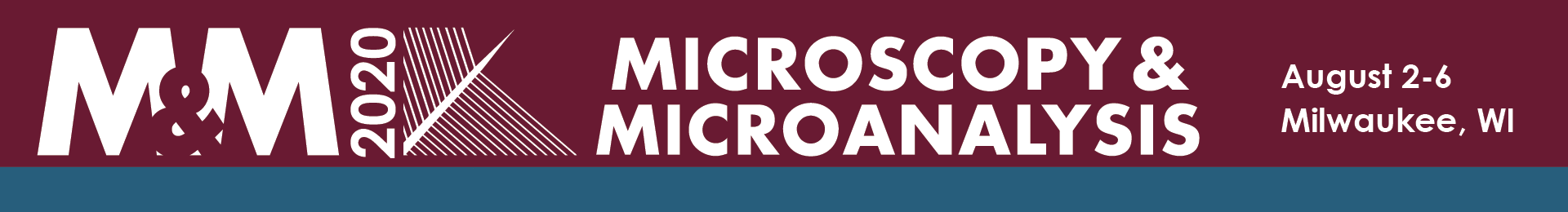 Microscopy & Microanalysis (M&M) 2020 Event Banner