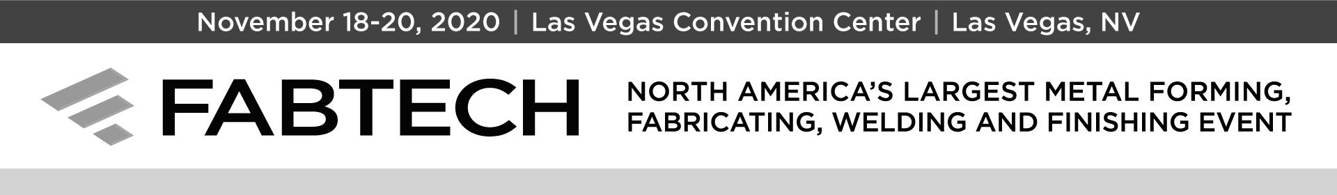FABTECH 2020 Event Banner