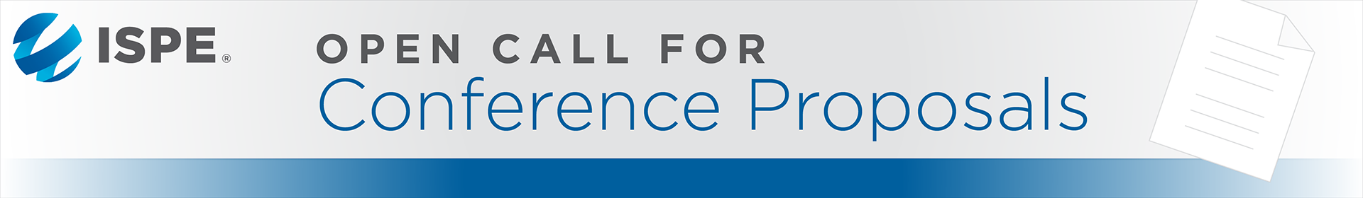 2020 ISPE Call for Conference Proposals Event Banner