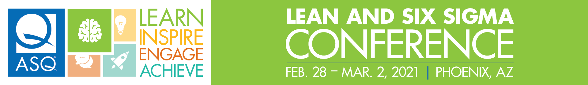 2021 Lean and Six Sigma Event Banner