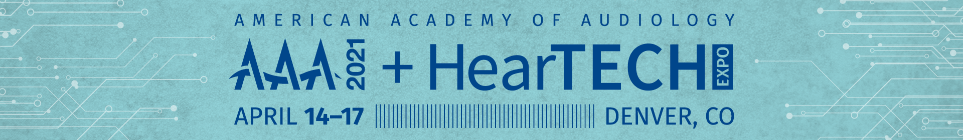 AAA 2021 + HearTECH Expo Event Banner