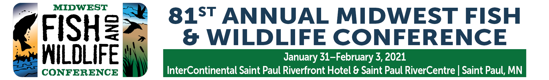 81st Annual Midwest Fish & Wildlife Conference Event Banner