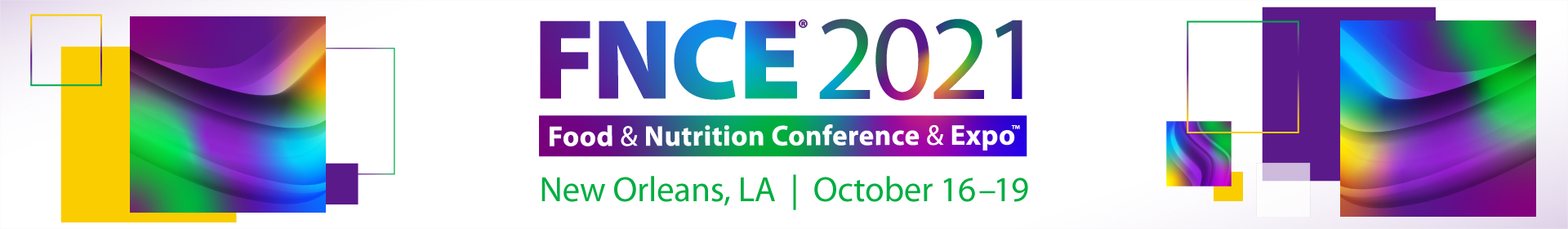 2021 Food & Nutrition Conference & Expo Event Banner