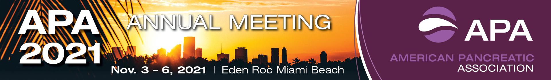 American Pancreatic Association 2021 Event Banner