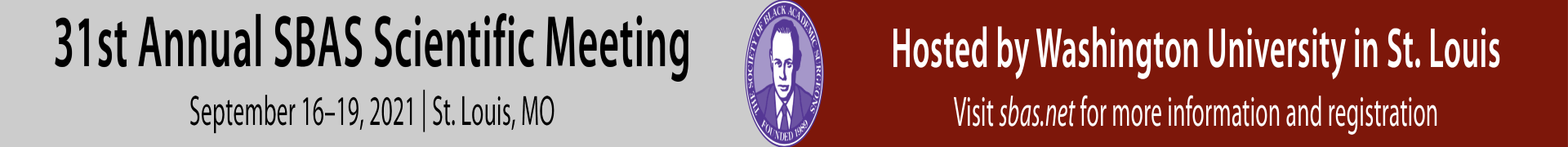 31st SBAS Annual Meeting Event Banner