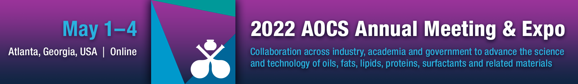 2022 AOCS Annual Meeting & Expo Banner