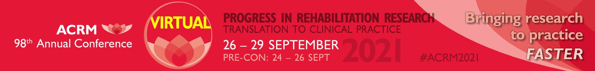ACRM 98th ANNUAL CONFERENCE Event Banner