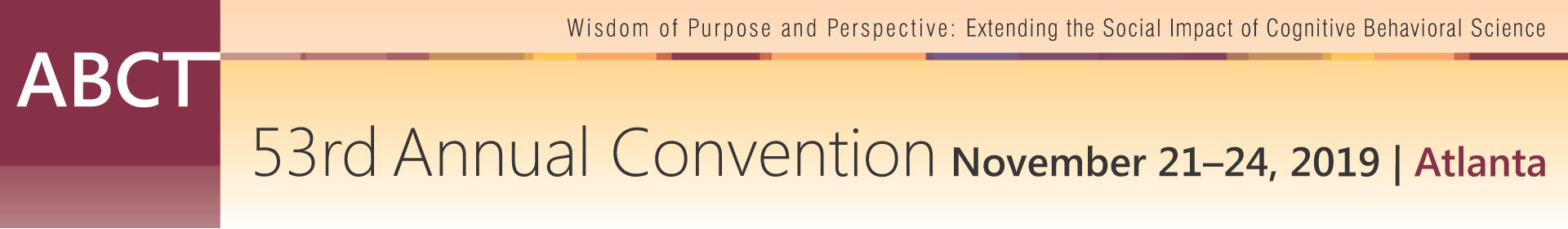 ABCT 53rd Annual Convention Event Banner