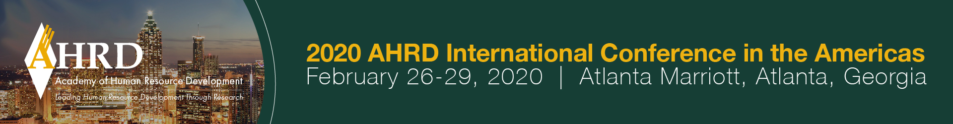 2020 AHRD Conference in the Americas Event Banner