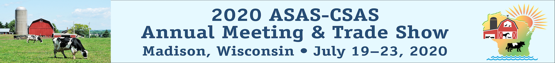2020 ASAS-CSAS Annual Meeting and Trade Show Event Banner