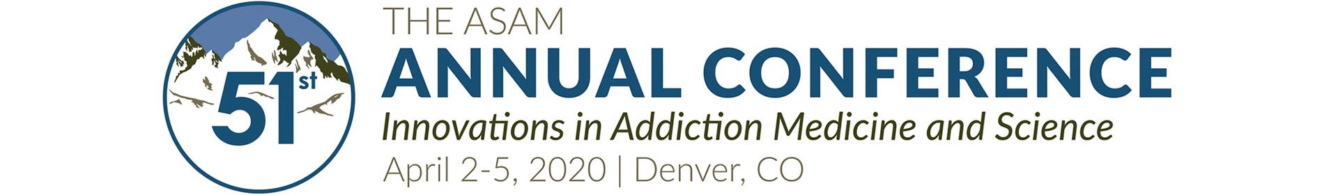 ASAM 51st Annual Conference - 2020 Event Banner