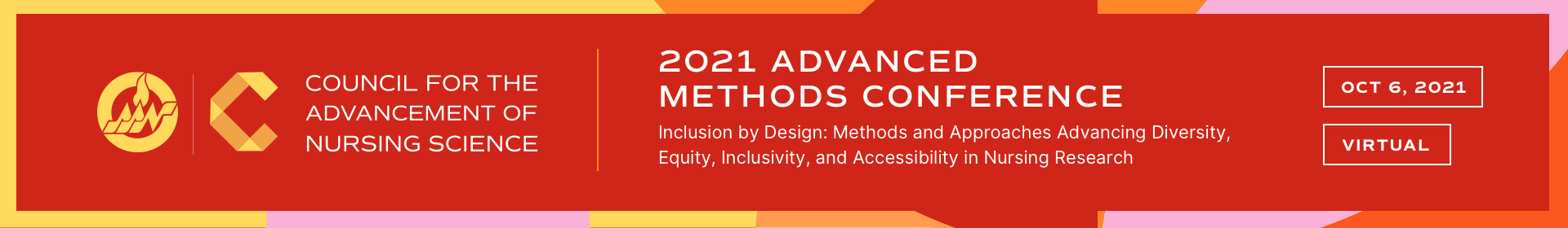 2021 Advanced Methods Virtual Conference  Event Banner