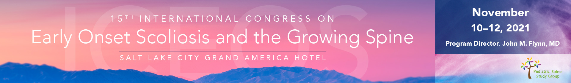 Int'l Congress on Early Onset Scoliosis and the Growing Spine Event Banner