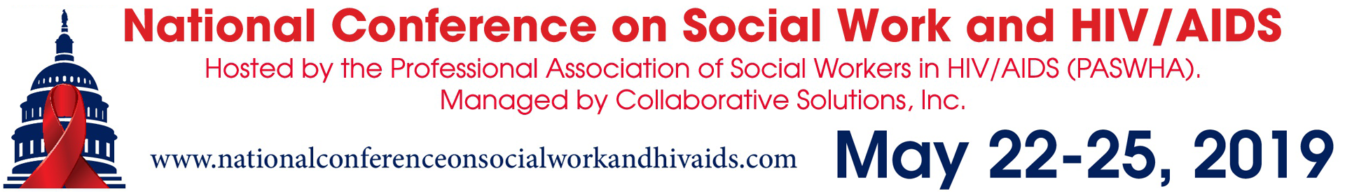 2019 National Conference on Social Work and HIV/AIDS Event Banner