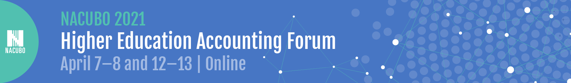 2021 Higher Education Accounting Forum Event Banner