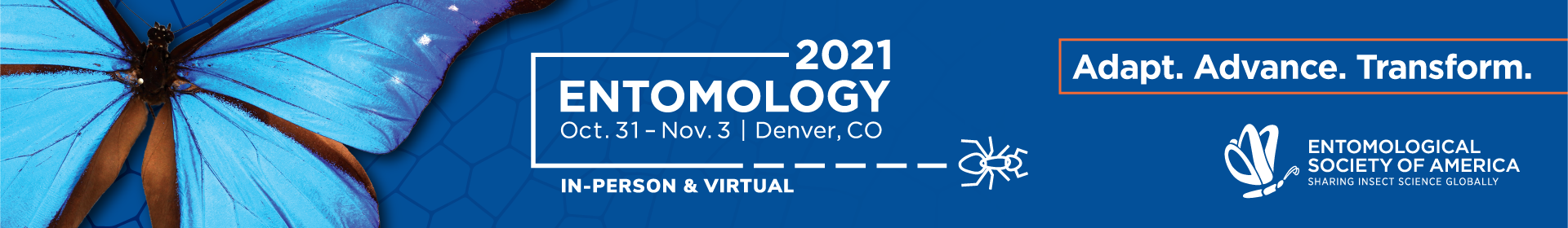 Entomology 2021 Event Banner