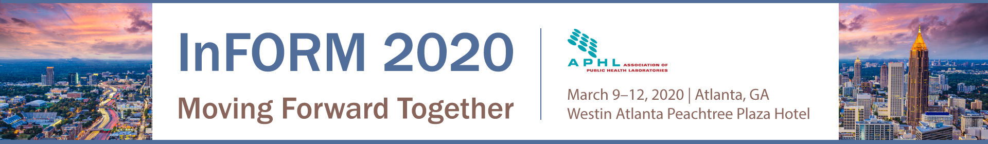 InFORM 2020 Moving Forward Together Event Banner