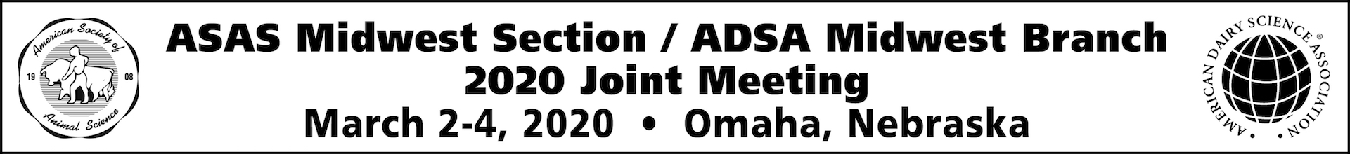 2020 ADSA ASAS Midwest Meeting Event Banner