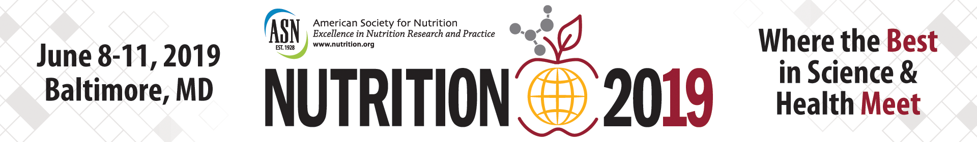 Nutrition 2019 Event Banner
