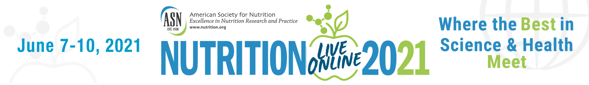 NUTRITION 2021 LIVE ONLINE, ASN Scientific Sessions & Annual Meeting Event Banner