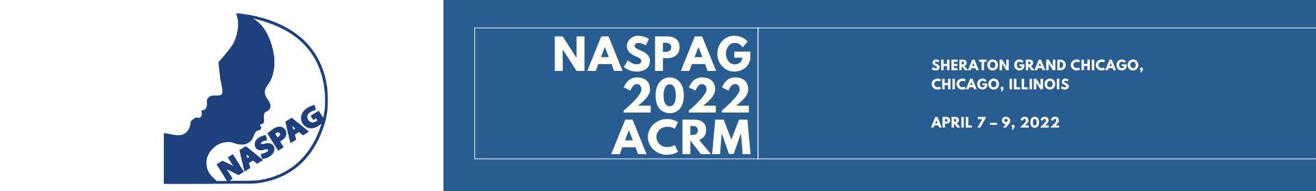 NASPAG 2022 ACRM Event Banner