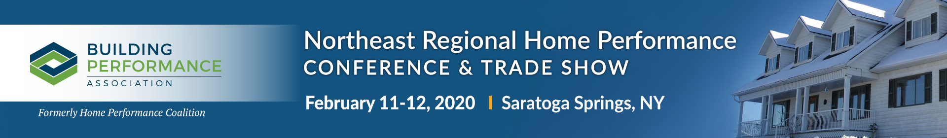 2020 Northeast Regional Home Performance Conference Event Banner