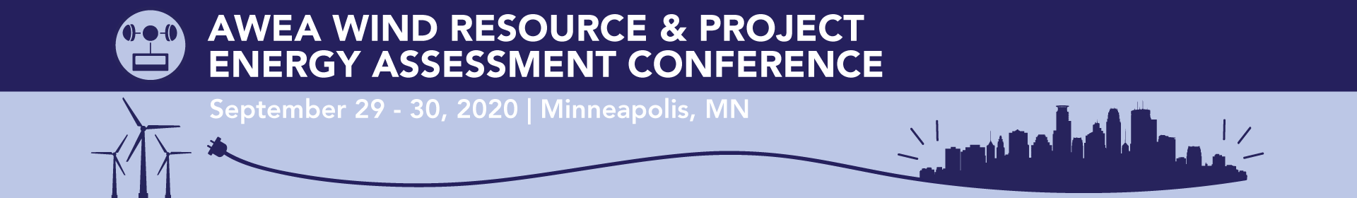 AWEA Wind Resource & Project Energy Assessment Conference 2020 Event Banner