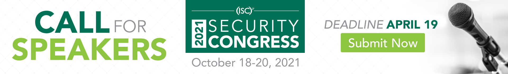 2021 (ISC)² Security Congress Event Banner