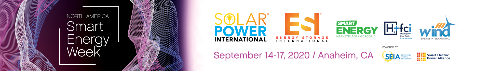 Solar Power International, Energy Storage International, and NASEW 2020 Event Banner