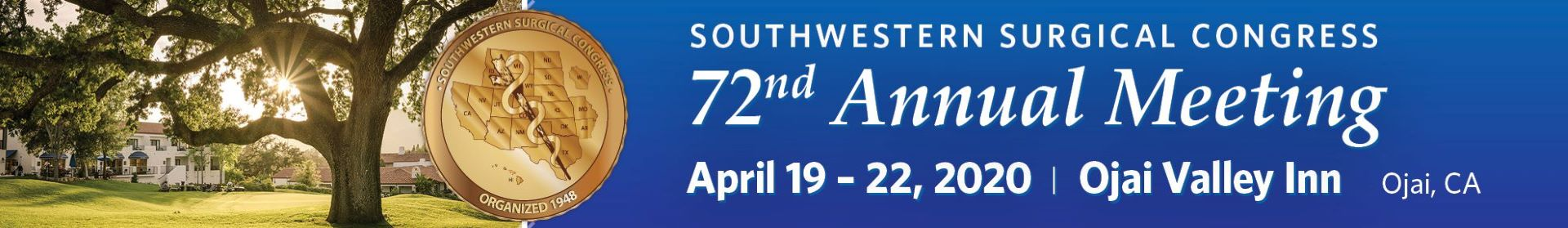 SWSC 72nd Annual Meeting 2020 Event Banner