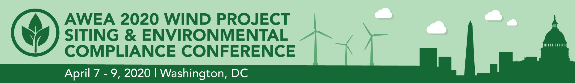 AWEA Wind Project Siting and Environmental Compliance Conference 2020 Event Banner