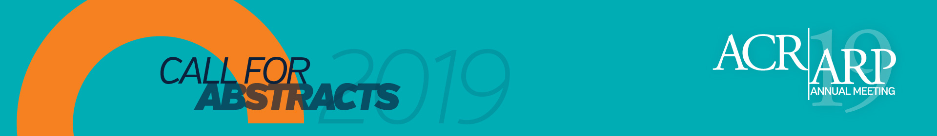 2019 ACR/ARP Annual Meeting Abstracts Event Banner